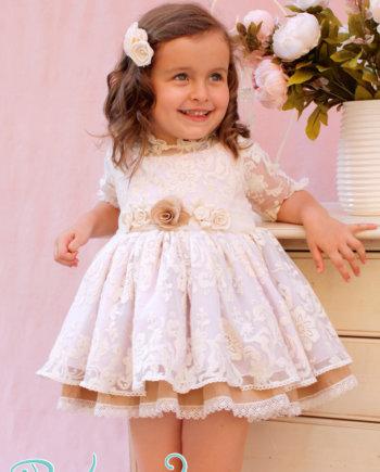 vestido ceremonia para niña rosa
