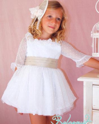 Vestido de ceremonia y arras para niña