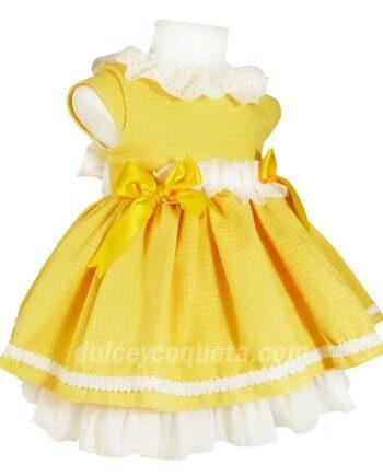 Belcoquet Diana vestido vuelo amarillo primavera verano niña