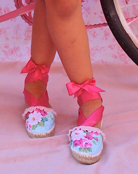 alpargatas niña rosas