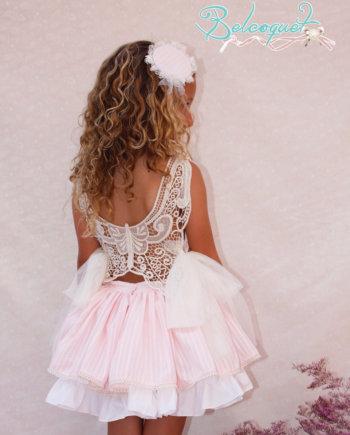 Vestido espalda encaje