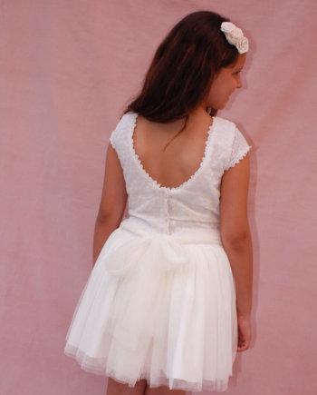 vestido ceremonia beige