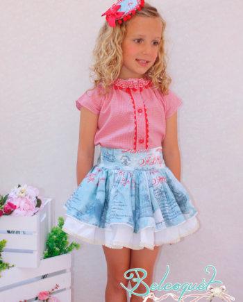 blusa y falda verano