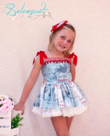 vestido tirantes niña
