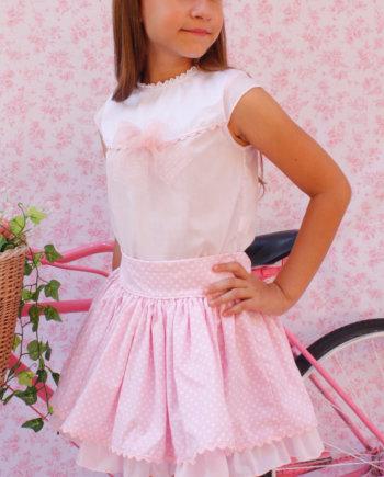 conjunto niña rosa verano