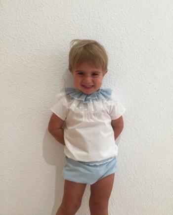 conjunto niño azul