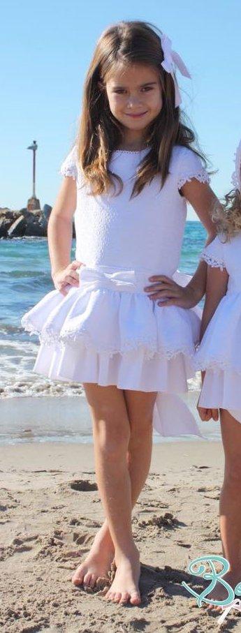 vestido niña blanco