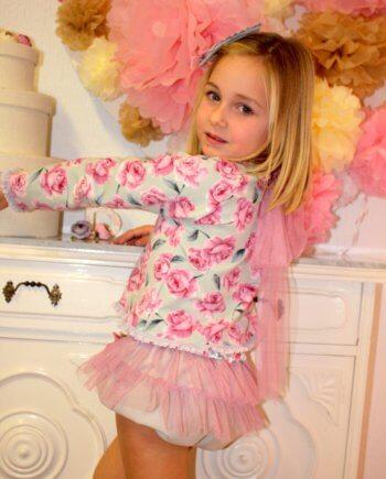conjunto bombacho niña rosa