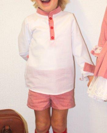 conjunto niño camisa manga larga