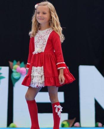 Vestido rojo niña
