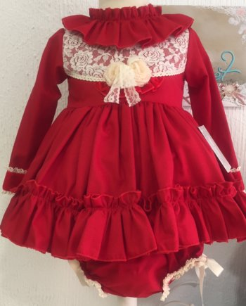 Vestido jesusito niña. Rojo