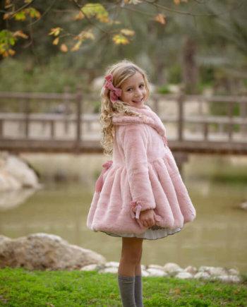 Abrigo rosa niña