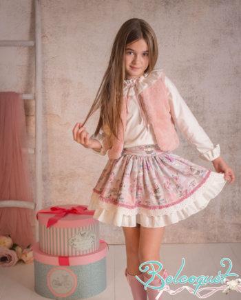 conjunto falda y chaleco