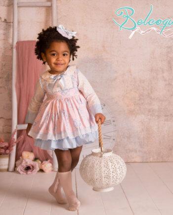 vestido niña tono pastel