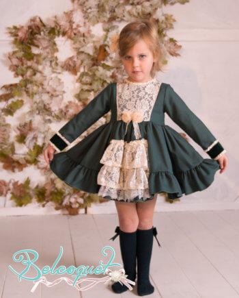 Vestido niña con vuelo