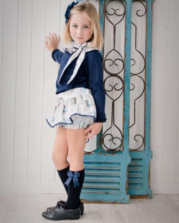 Conjunto niña. Azul marino