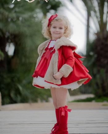 abrigo niña rojo