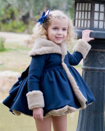 abrigo niña azul