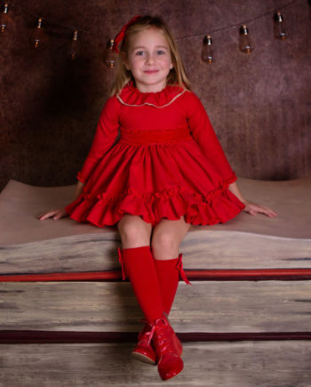vestido vuelo rojo