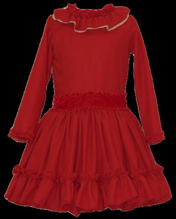 vestido rojo invierno