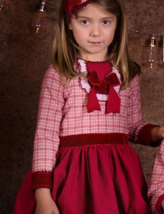 vestido niña en granate