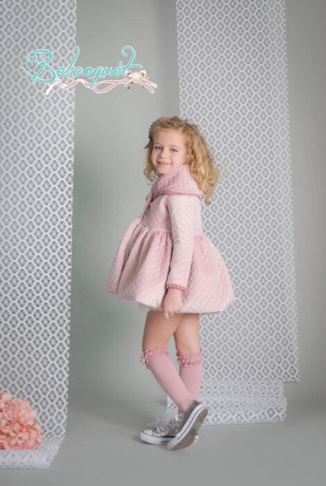 abrigo terciopelo rosa