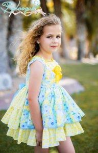 Belcoquet vestido vuelo niña Amy azul