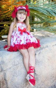 Belcoquet vestido vuelo Emily tul rojo
