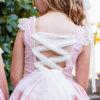 Belcoquet Amelia vestido vuelo talle bajo ceremonia arras rosa