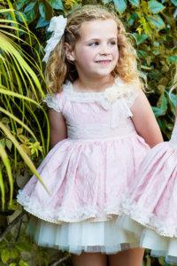 Amelia vestido vuelo niña ceremonia arras primavera verano