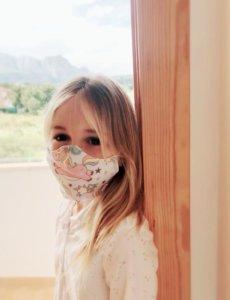 mascarilla reversible algodón infantil niño niña adulto algodón belcoquet lavable estampada ecológica reutilizable filtro