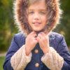 abrigo acolchado marino capucha