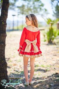 Belcoquet Caperucita Roja vestido vuelo talle bajo 03
