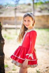 Belcoquet Caperucita Roja vestido vuelo talle bajo 04