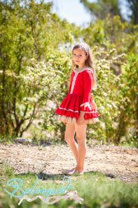 Belcoquet Caperucita Roja vestido vuelo talle bajo 05
