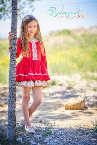 Belcoquet Caperucita Roja vestido vuelo talle bajo