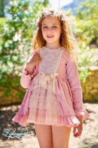 Belcoquet Rapunzel vestido vuelo rosa 03