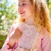 Belcoquet Rapunzel vestido vuelo rosa
