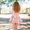 Belcoquet Rapunzel vestido vuelo talle bajo rosa